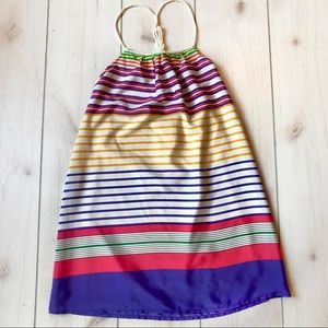 Zara Fun Colorful Nautical Rope Stripe Shift Dress